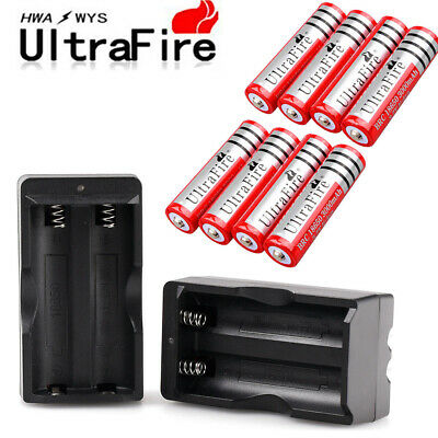 Ultrafire 18650 3.7V 3000mAh Rechargeable Li-ion Battery Cell Charger Optional