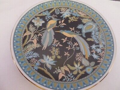 Fabulous Vintage Japanese Exotic Birds & Flowers Design Plate 16.5 Cms Diameter