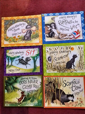 6 Hairy Maclary Stories  by Lynley Dodd. (Rhyming Books).3 years+.