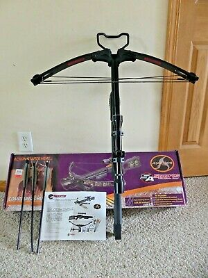 "Sa Sports Used 150# Ambush Compound Crossbow Package 3 New 16"" Bolt Cocking Rope"