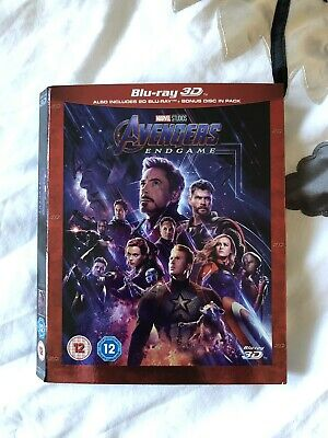 **Slip Case Cover ONLY NO DISC** Avengers Endgame 3D Blu Ray