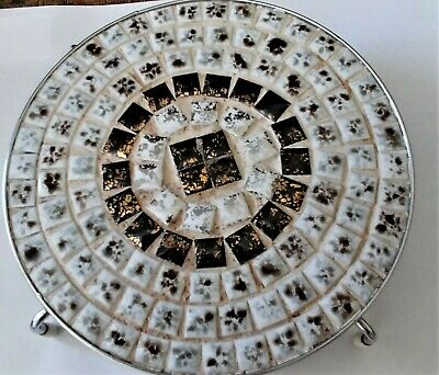 Lot Of 2 Mid Century 1960'S Mosaic Tiled Kitchen/Bathroom Items (Ashtray?)