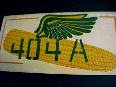 RARE NEAR MINT  1930s Vintage DEKALB 404A SEED CORN Old Flying Ear Graphic Sign