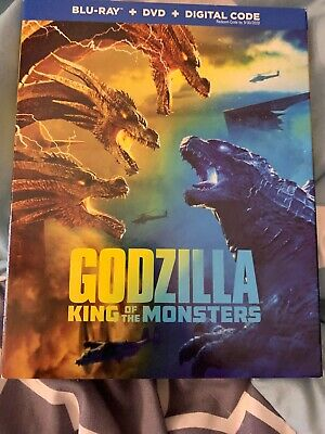 BRAND NEW GODZILLA King Of The Monsters Blu-ray + DVD + Digital Code
