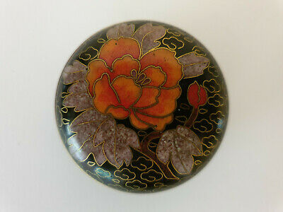 Vintage  Chinese Cloisonne Pill Snuff Box