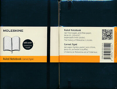 Moleskine Classic Softcover Ruled Notebook Pocket Black NEW