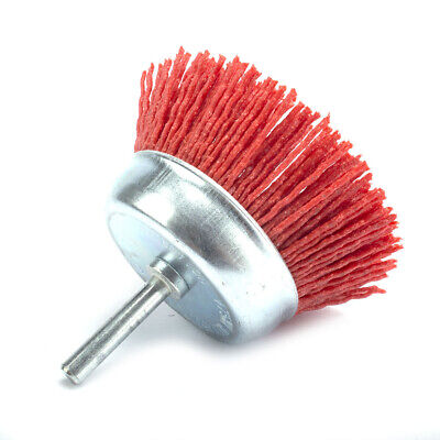 """3"""" 75mm Nylon Wire Brush Cup Abrasive Wire Wheel Flap End Polishing Rotary Tool"""