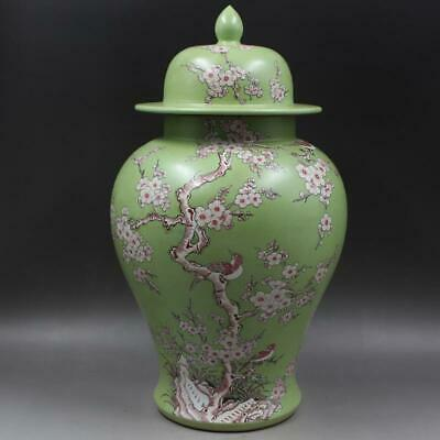 Chinese ancient antique hand make Pastel Flower and bird pots a35