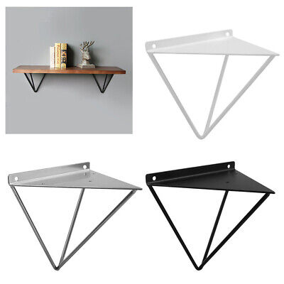 2PCS New Durable Hairpin Industrial Wall Shelf Support Bracket Metal Prism Mount