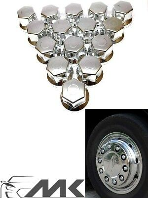 20 x 32mm Polished Stainless Steel Wheel Nut Covers for Daf Volvo Scania Man