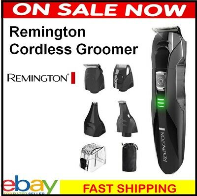 Mens Electric Shaver Cordless Grooming Kit Hair Clipper Trimmer Remington Razor
