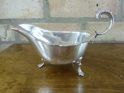 a nice vintage Mappin & Webb Princes Plate EPNS silver plated Sauce boat jug