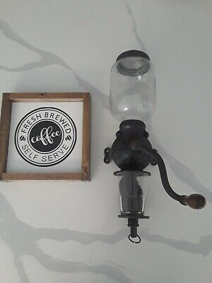 Antique Arcade Crystal Coffee grinder
