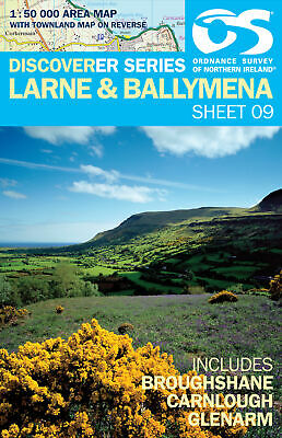 Northern Ireland Map Discoverer 9 Larne by Ordnance Survey Ireland