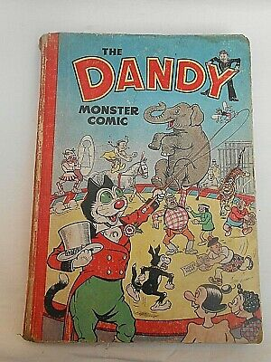 1951 ** THE DANDY MONSTER COMIC ** Book Vintage Comic Annual (Good Condition)