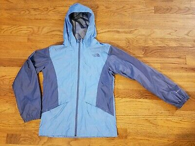 NICE North Face Girls Large Dryvent Jacket Blue L Rain Coat Light Hood