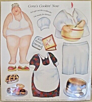 Dress-Me-Up Magnets-Real People by Erika Oller-Cora's Cookin' Now-2002-NEW-USA