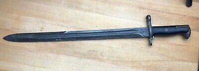 """WWII US 1943 16"""" AFH American Fork & Hoe Bayonet"""