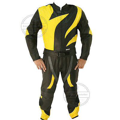Men MOTORCYCLE LEATHER SUIT MEN'S RACING SUIT MOTORBIKE LEATHER JACKET HANDMADE