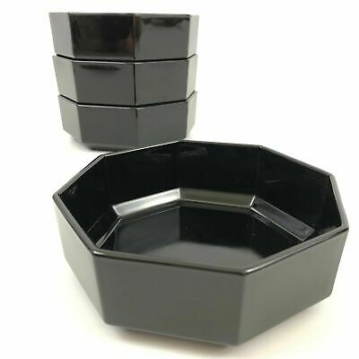 Set of 4 (Four) Cereal Bowl Octime Black by Arcoroc - Get This Item Free