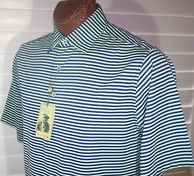 Donald Ross Golf s/s moisture wicking polo Shirt Sz M Navy-Spearmint