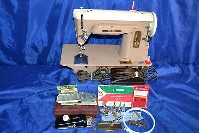 Singer 404 Slant Needle Sewing Machine Serviced Ready To Sew Beauty Quilters