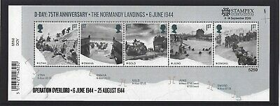 GREAT BRITAIN 2019 STAMPEX OVERPRINT D-DAY UM, MNH, No. 5259 LIMITED EDITION