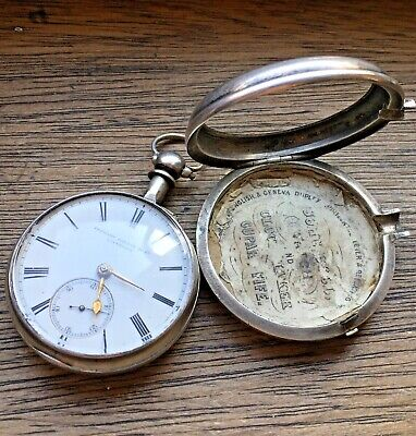 Beautiful Antique Hallmarked Sterling Silver Pair Case Pocket Watch - REPAIRS