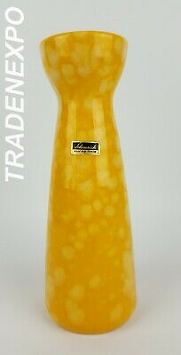 1970's Vintage SCHEURICH KERAMIK Yellow 520/22 Vase West German Pottery Fat Lava