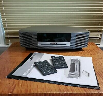 Bose Wave Music System Am/Fm Radio Cd Player 2 Remotes & Manual Outstanding Con