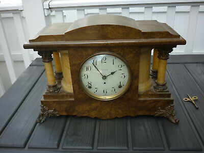 ANTIQUE SETH THOMAS SHELF MANTLE CLOCK Original VG Shape COMPLETE w/ Key