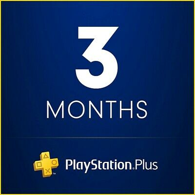 PlayStation Plus 3 Months Subscription Membership Card (US) PS Plus For PS4/PS3