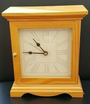 M&S Wooden, Battery Operated, Mantle Clock with Hidden Key Safe