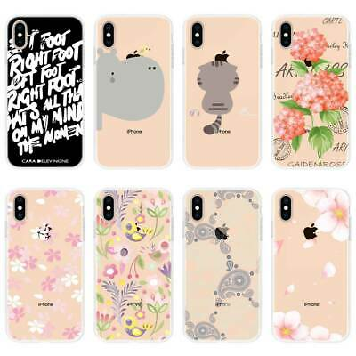 For iPhone 11 Pro Max XR 8 7Plus TPU Case Soft Protective Colored Cases