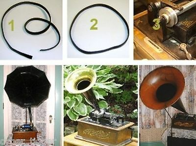 New Leather Phonograph Pulley BELT - for Pathé Edison Columbia Cylinder Record