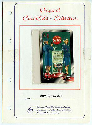 German Coca Cola Sprint Telephone Card 1997 Vintage Original