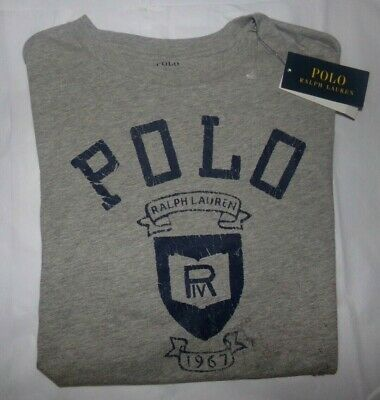 NWT Boys POLO RALPH LAUREN S/S T-Shirt~GRAY~SZ XL 18/20