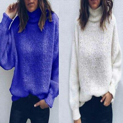 Tops Fashion Knitted sweater Loose Long Sleeve Solid Women's Sweater Casual
