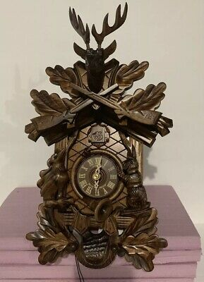 "Cuckoo Clock 1-day-movement Carved-Style 18.9"" by Anton Schneider New!!!"