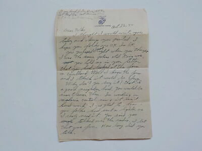 WWII Letter 1944 Played Dirty Trick 1st Marines Division War WW2 Marine USMC WW