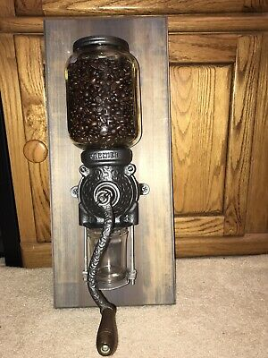 Restored PREMIER Antique Wall Coffee Grinder, Cleaned & Ready To Use
