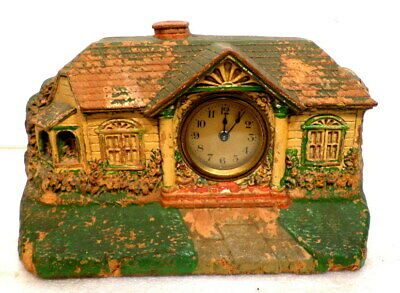 Interesting & Collectable Bungalow Clock With Mechanical Wind Movement