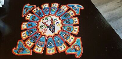 (20-PC-SET),2019 World Jamboree Patches,(MEXICO CONTINGENT)