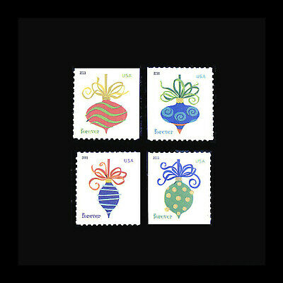 2011 4579-82 Holiday Baubles Atm Singles Set Mnh