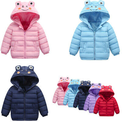 Winter Toddler Kids Baby Boy Girl Jacket Warm Thick Animal Cartoon Hooded Outfit