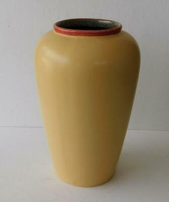 "Scheurich West Germany Art Pottery Vase 504-24 Mustard Yellow 9½"" Urn Shape"
