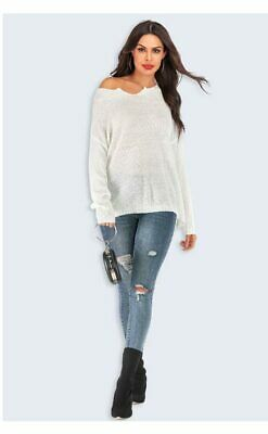 T-shirt Fashion Sweater Women's Knitted sweater Loose Solid Casual Tops