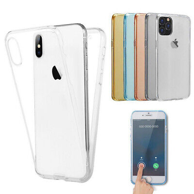 360° Protect Shockproof Clear Soft Case Cover For iPhone 11 Pro Max XR XS 8 Plus