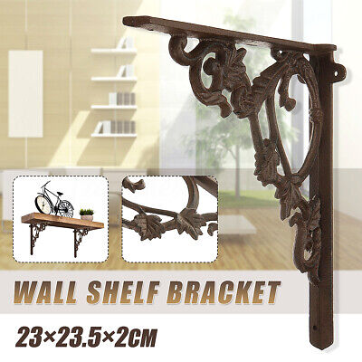 Rustic industrial Antique Cast Iron shelf wall Bracket Support book Sink Toilet