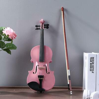 1/8Size Gloss Acoustic Violin Fiddle with Case Bow Rosin Musical Instrument Pink